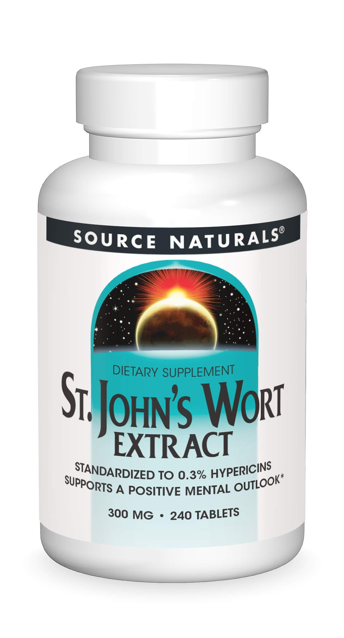 Source Naturals St. Johns Wort Extract 300 mg Supports a Positive Mental Outlook - 240 Tablets