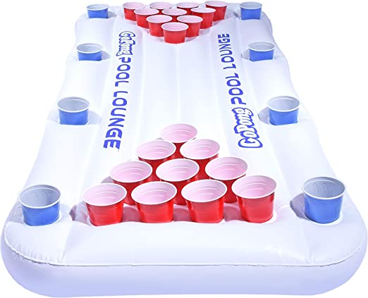 GoPong Pool Lounge Floating Beer Pong Table - Best Inflatable Beer Pong Table