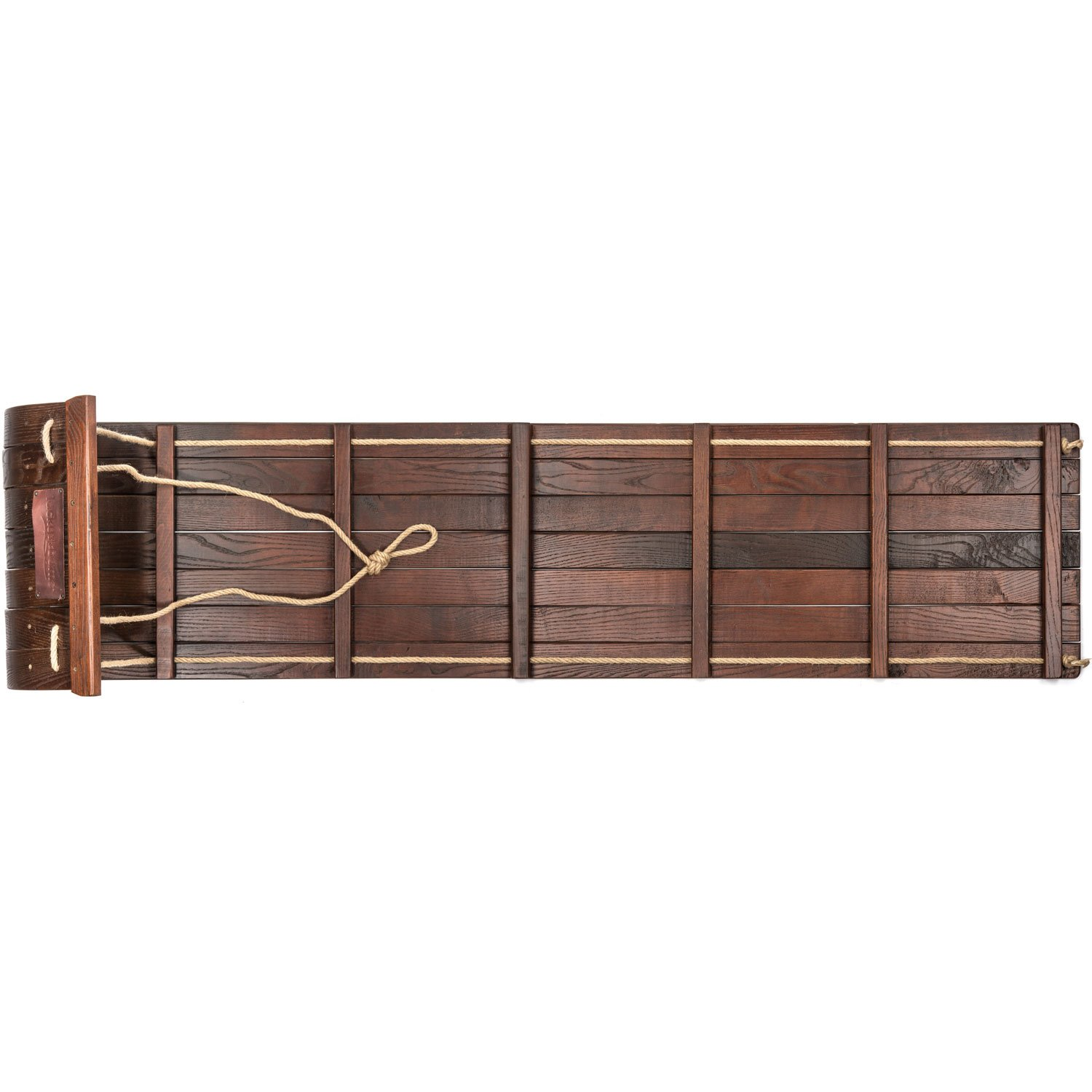 amazon com lucky bums heirloom collection wooden toboggan with