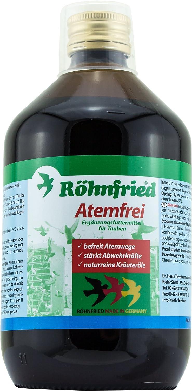 Röhnfried Atemfrei - ein Kräuterelixir das die Abwehrfunktionen der Taube stärkt (500 ml)