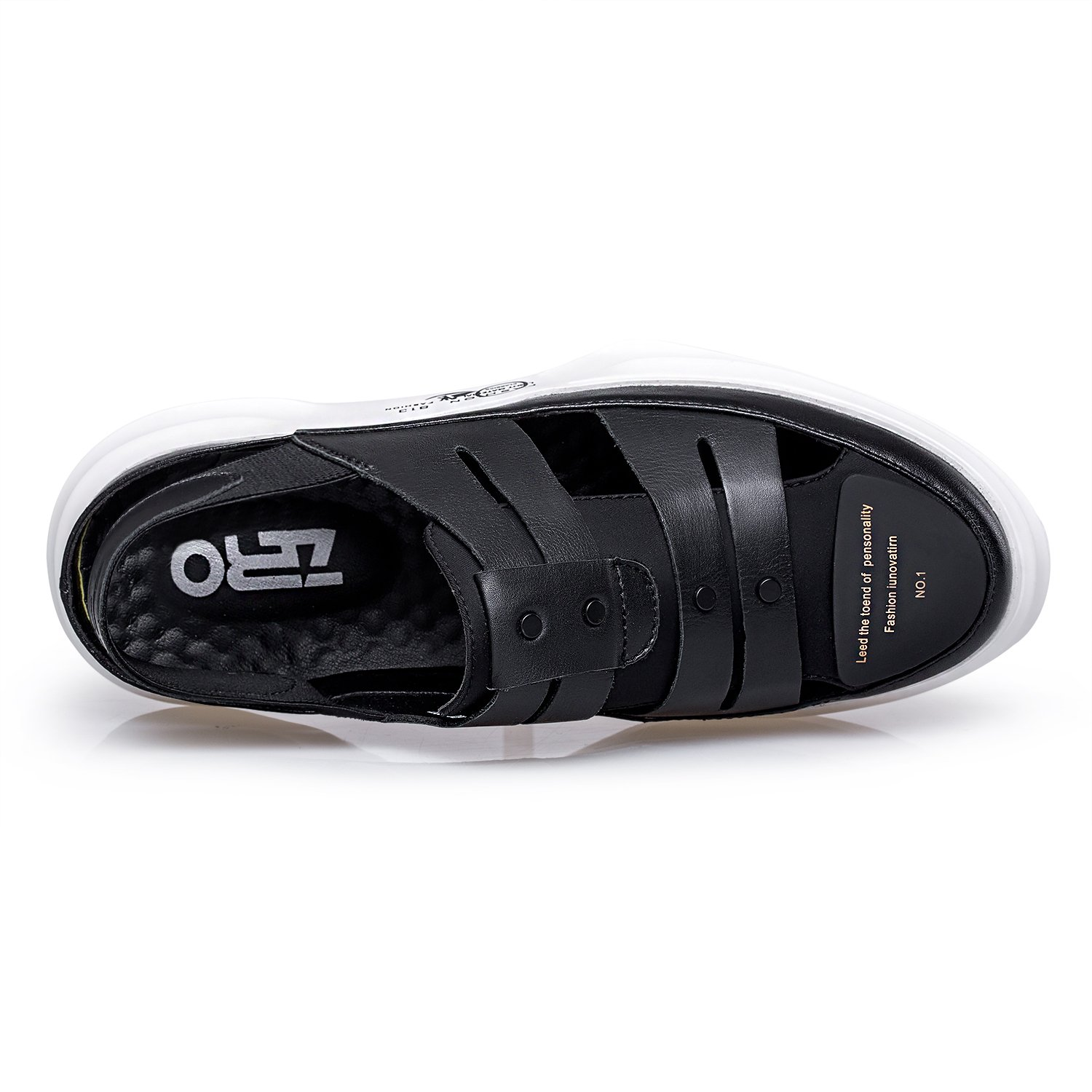 ZRO Mens Fashion Casual Closed Toe Sandals Comfort Shoes Breathable