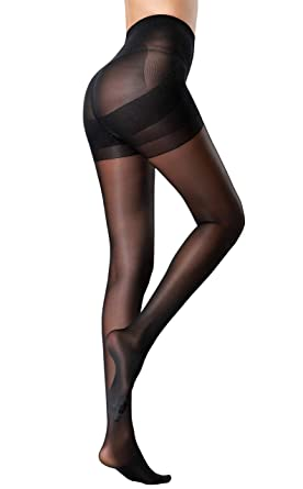 a4b290f89 MERYLURE Sheer Back Seam Pantyhose Reinforced Crotch Tights for Women   Amazon.co.uk  Clothing