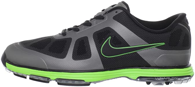 new style f664c c6565 Amazon.com  Nike Golf Men s Nike Lunar Ascend-M, Black Grey Electric Green  8 M US  Shoes