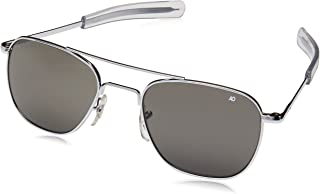 product image for Authentic AO Eyewear Silver Frame Bayonet Temple True Color Grey Glass Lens Sunglasses USMC USAF USN