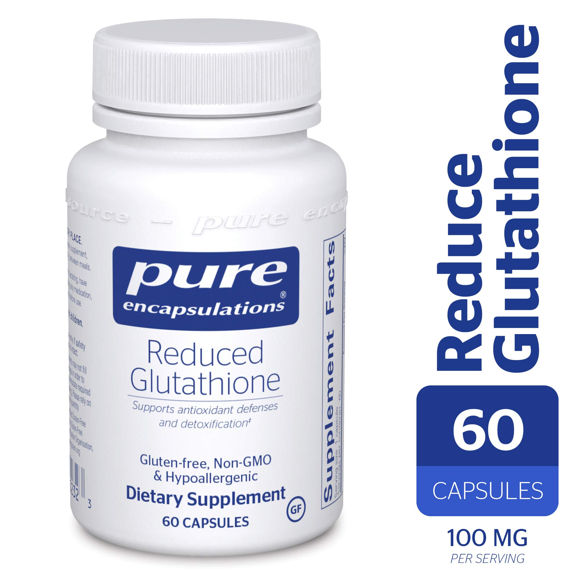 Pure Encapsulations - Reduced Glutathione - Hypoallergenic Antioxidant Supplement for Cell Health and Liver Function* - 60 Capsules