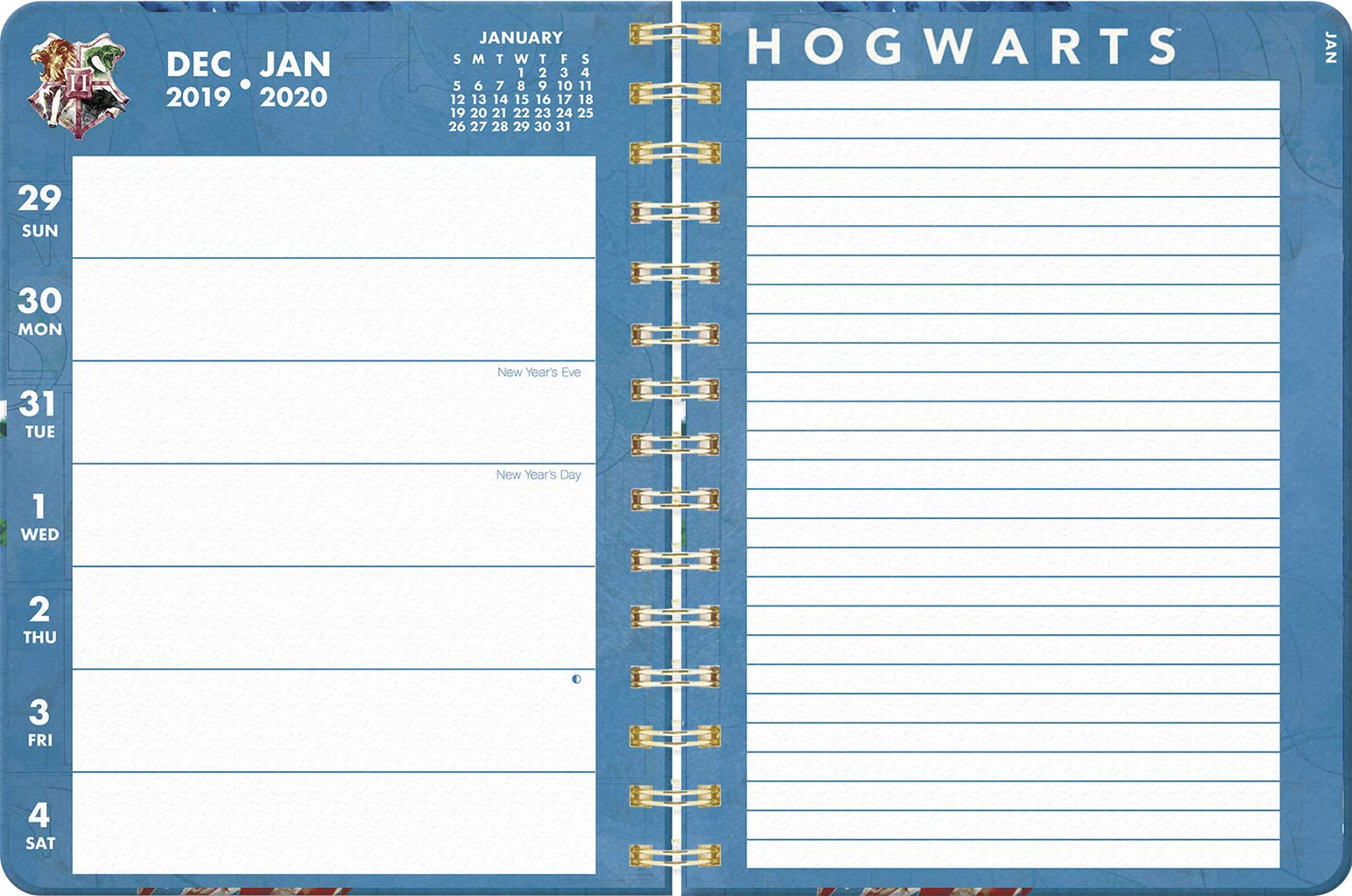 Harry Potter 2020 12-month Weekly Note Planner: Trends ...