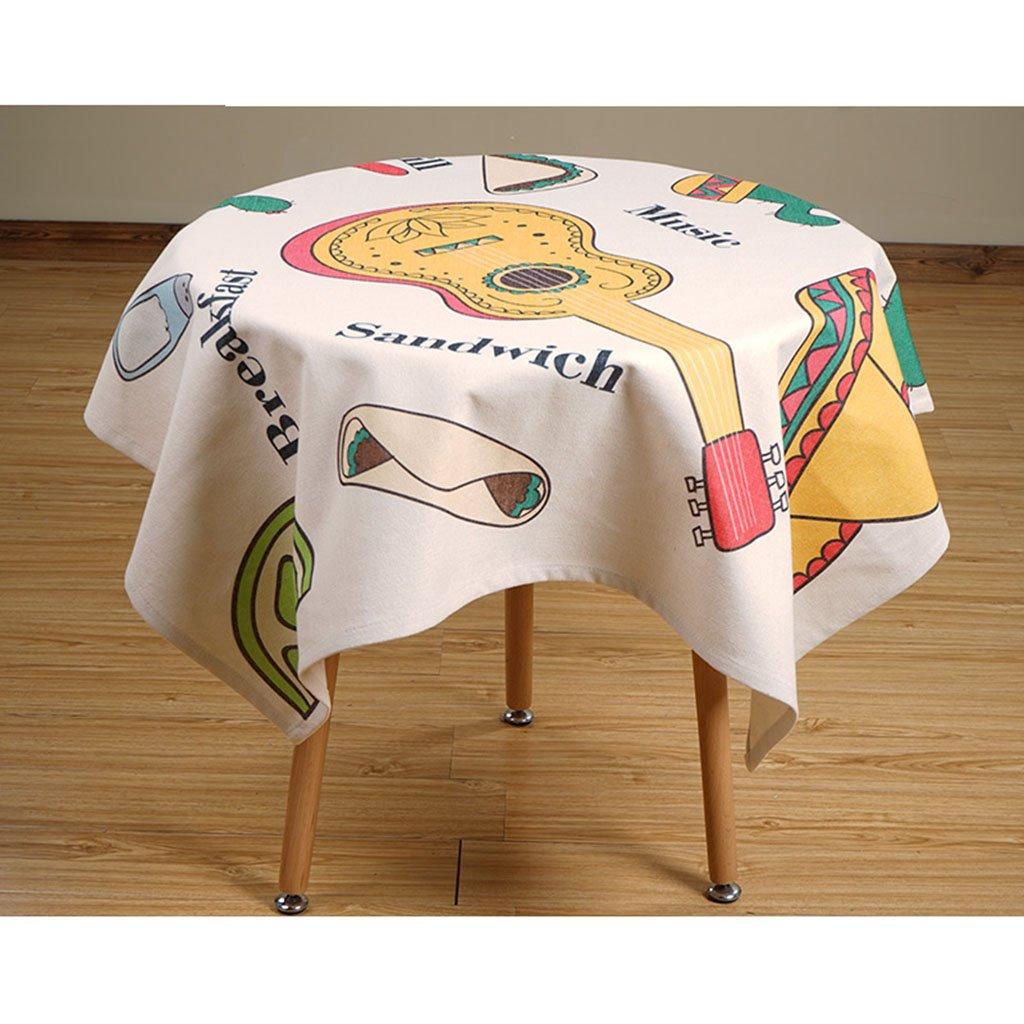 Europäische Tischdecke Leinen Tischdecke, Literatur Literatur Literatur und Kunst Runde Tischdecke Square Esstisch Couchtisch Schreibtisch Tischdecke (Farbe   4 , Größe   140180CM) f061c1