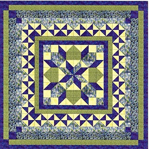 Easy Quilt Kit Twinkling Bluebells//EXPEDITED SHIPPING