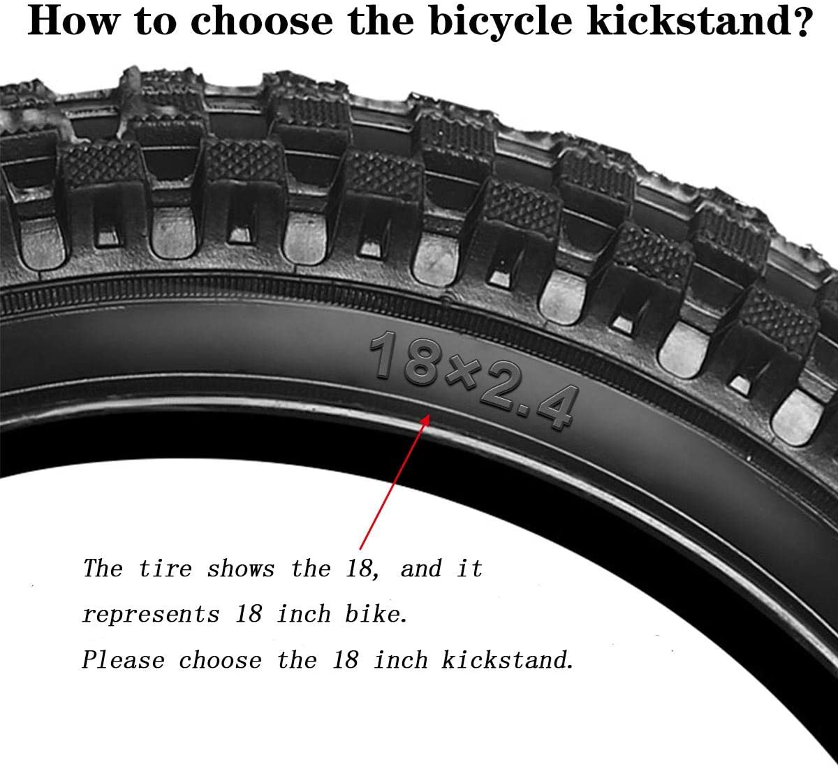 CYFIE Bike Kickstand with Pad Bike Stand Kids Bicycle Kickstand Support Steel Rear Wheel Kickstands
