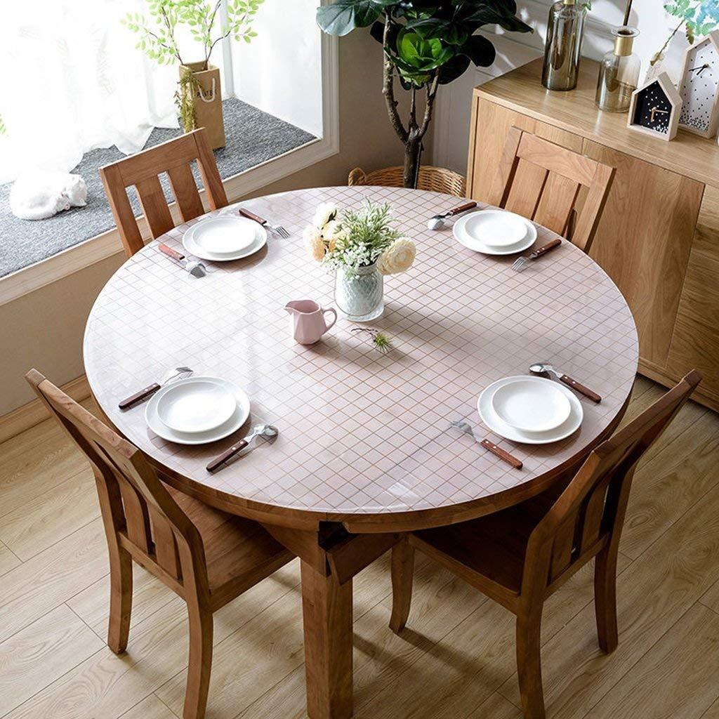 JJD ヨーロッパのテーブルクロスPVCラウンドテーブルクロス、柔らかいガラステーブルats防水クリスタルプレートコーヒーテーブルクロステーブルクロス (Color : B, サイズ : 140*140cm) 140*140cm B B07RTTC9ZW