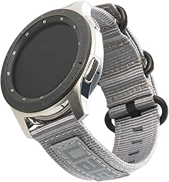 Urban Armor Gear Nato Strap Bracelet For Samsung Galaxy Watch3 41 Mm Watch 42 Mm Galaxy Watch Active 1 2 40 Mm Gear Sport Designed For Samsung Smartwatches Replacement Strap Made Of Nylon Grey Elektronik