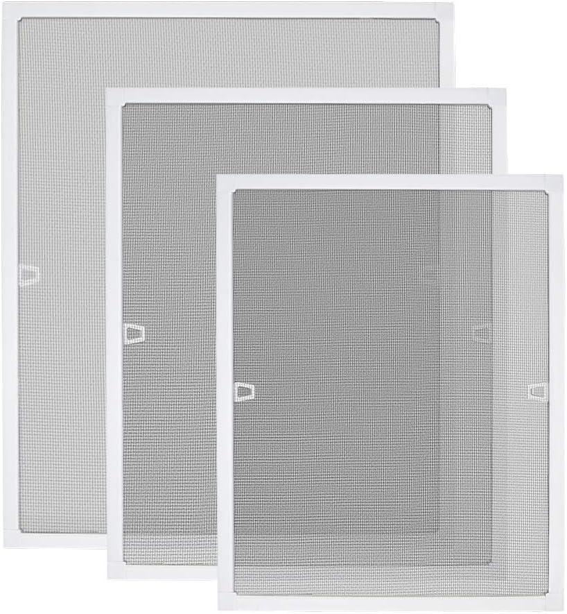 ohne Bohren Montage LARS360 Fenster Fliegengitter Insektenschutz Fliegenvorhang Moskitonetz aus Alurahmen f/ür Fenster Verhindert Insektenbefall Luftdurchl/ässigkeit 100x120cm, Braun