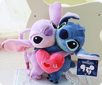 Disney Lilo & Stitch Stitch & Angel Sweet Lovers relleno felpa muñeca de juguete 1 par