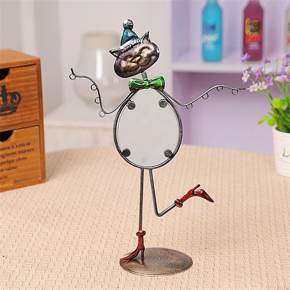 SHIPTIAN Animal en Forma de Gato Creativo Cobre Joyer/ía Stand Estante de Metal para Pendientes Vintage Retro Pantalla de joyer/ía Collar Colgante Colgante Colgante Almacenamiento