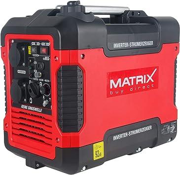 Matrix Generador de corriente inversor con USB, silencioso, 4 tiempos, 2000 W, para camping y garaje