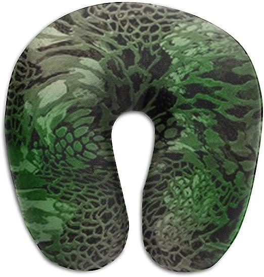 Amazon.com: Almohada de viaje con forma de serpiente verde ...