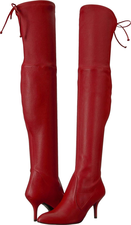 Stuart Weitzman Women's Tiemodel Over The Knee Boot B06Y2BFNKW 4 B(M) US|Red Plonge Stretch