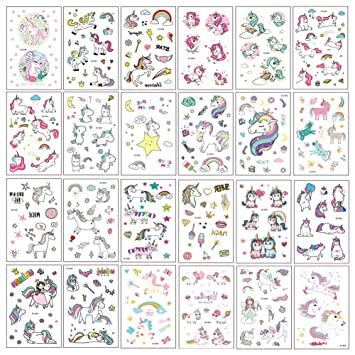 LINUX 400+ Diseños Pegatinas de tatuaje temporal de unicornio ...