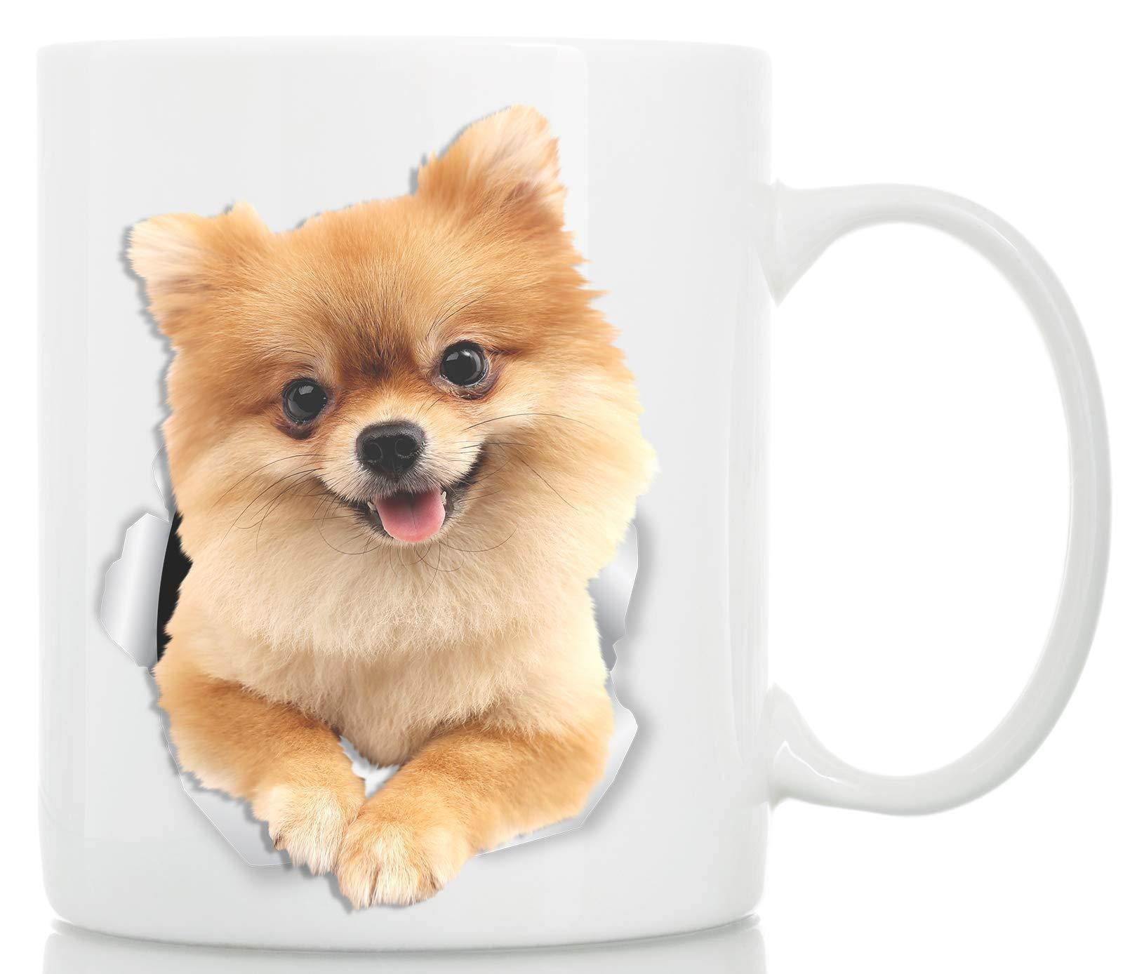 Cute Pomeranian Coffee Mug - German Spitz Ceramic Mug - Perfect Pomeranian Gifts for Dog Lover - Cute PomPom Cup for Pomeranian Mom and Dad - Great Birthday or Christmas Present for Dog Owner (11oz) 1