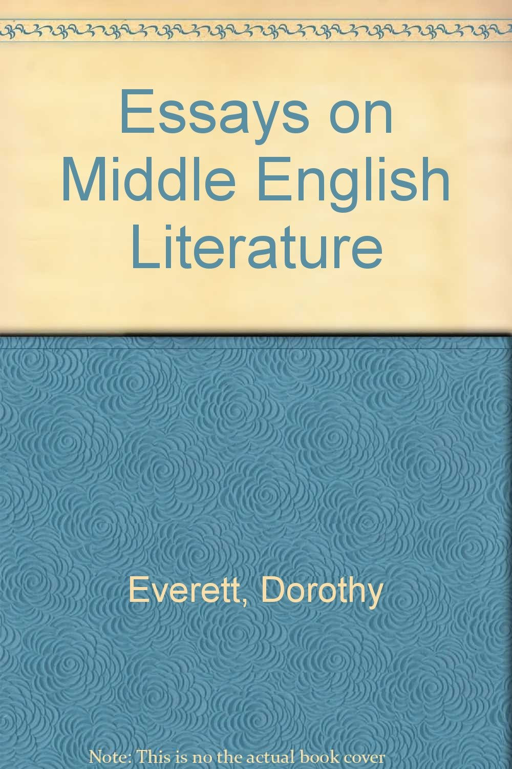 essays on middle english literature dorothy everett   follow the author