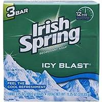 Irish Spring Bath Bar, Icy Blast 3.75 Oz, 3 x 3.75 oz bars