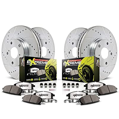 Power Stop K2876-26 Front & Rear Z26 Street Warrior Brake Kit Jeep: Automotive