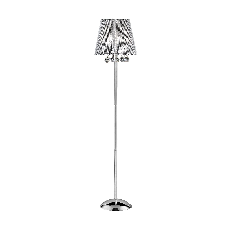 ORE International K-5142F Dreamer Crystal Floor Lamp, 64.50-Inch Height