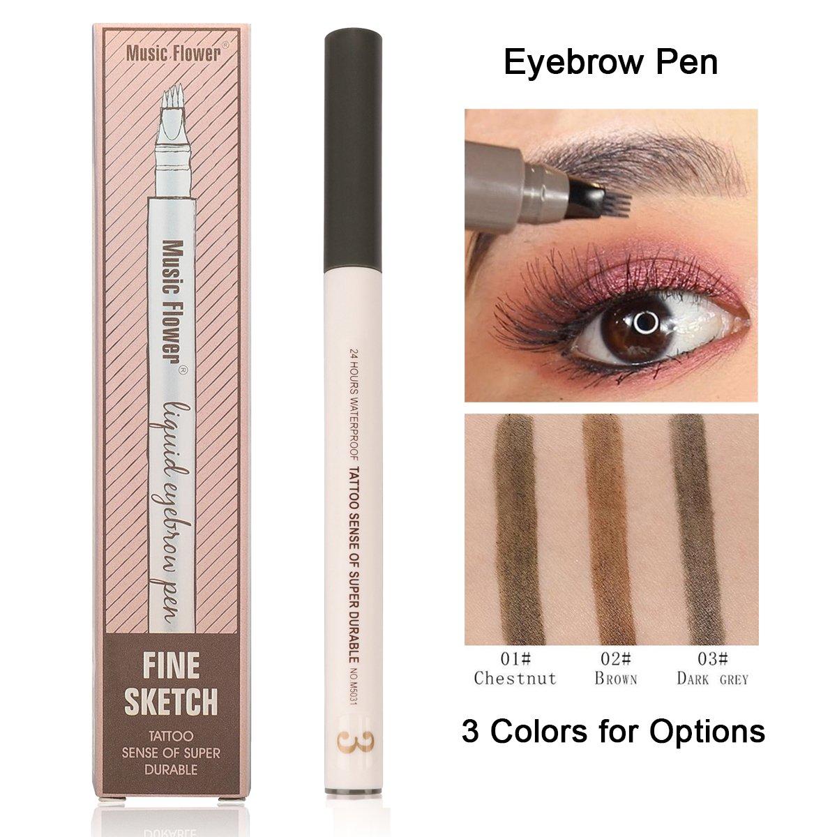 Amazon Microblading Eyebrow Pen Sweat Proof Long Lasting