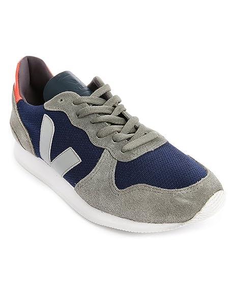 Veja Holiday Low - Zapatillas de Deporte de Canvas para Hombre Azul Bleu (Nautico Grey/Oxford Grey) 40: Amazon.es: Zapatos y complementos