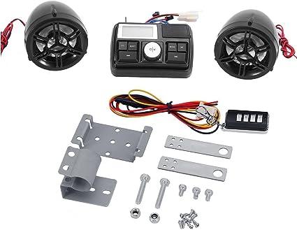 Main Unit+2X Blue LED Speaker Bluelliant Anti-Theft Motorcycle Audio kit MP3 FM