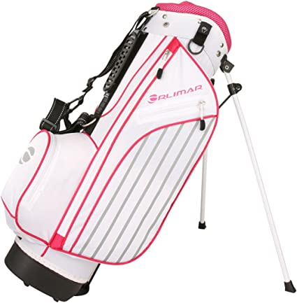Amazon Com Orlimar Golf Ats Junior Girl S Pink Golf Stand Bag Ages 5 8 Sports Outdoors