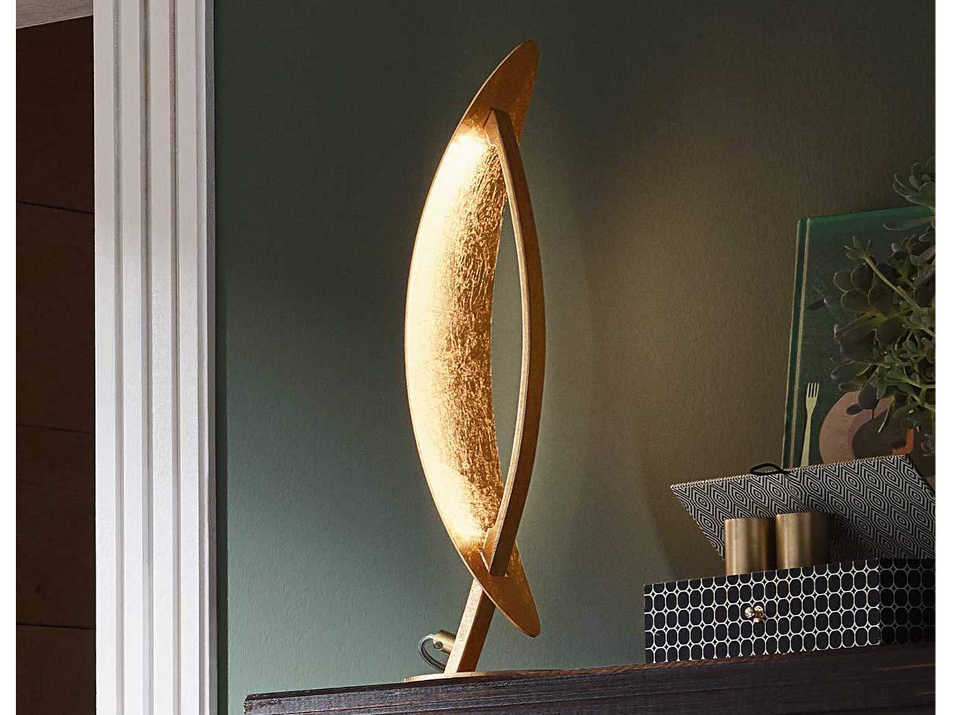 Lampada da terra in metallo 18 W WOFI Vega colore: Oro