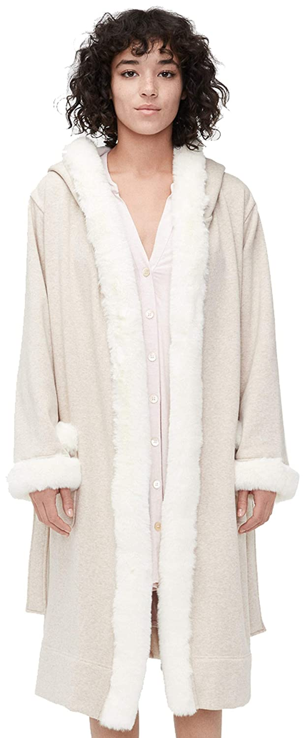 3b65825e07c UGG Womens Duffield Deluxe II Robe, Oatmeal Heather, Size X-Small ...