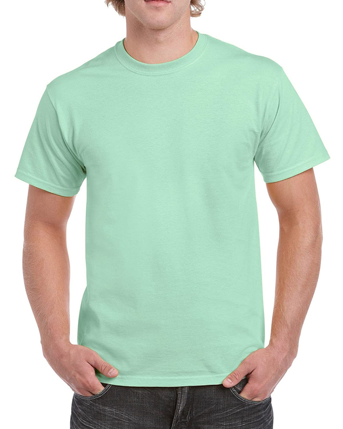 (ギルダン) Gildan メンズ ウルトラコットン クルーネック 半袖Tシャツ トップス 半袖カットソー 定番アイテム 男性用 B01LXRYSKW XX-Large|ミントグリーン ミントグリーン XX-Large