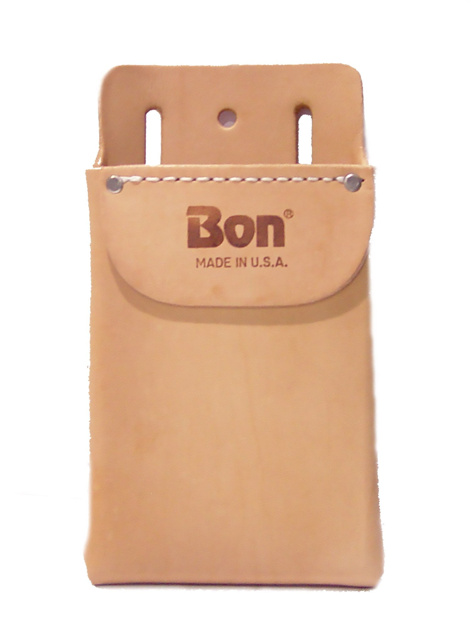 Bon by Heritage Leather 408X Single Pocket Box Shaped Fiber-Lined Tool Pouch with Flap
