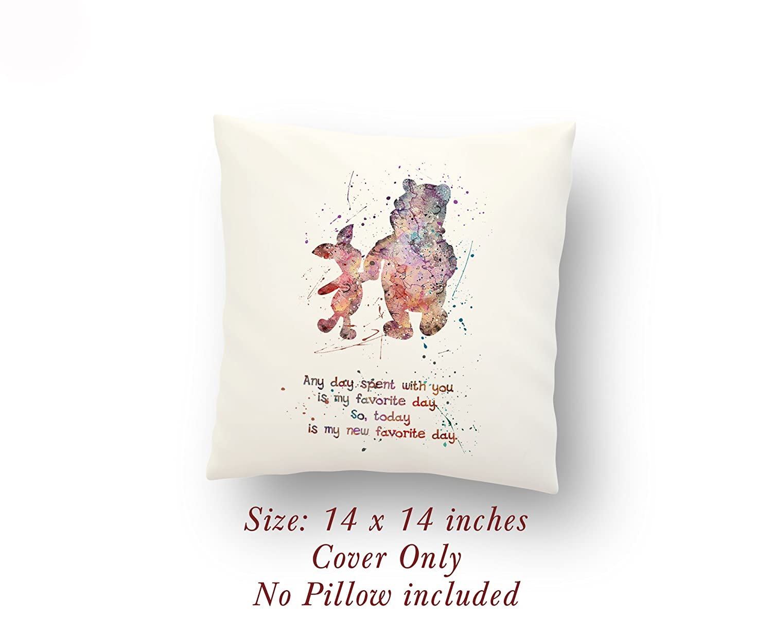 d8b17067a93b Amazon.com  Winnie-the-Pooh and Piglet Quote 14 x 14 inches Pillow Cover   Handmade