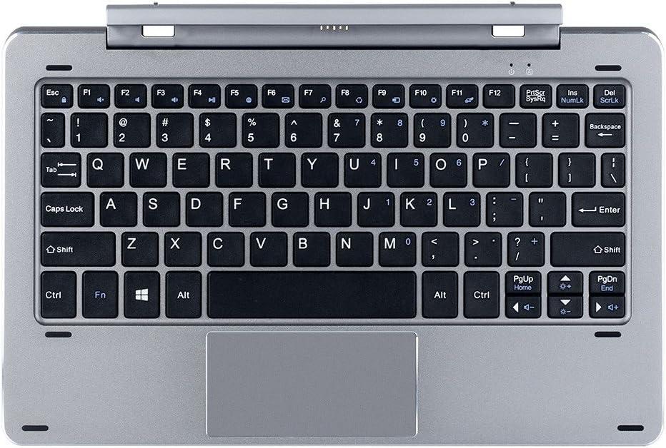 Chuwi Hi10 Air / HI10 Pro (CWI529) / Hibook/Hibook Pro Tableta Teclado Acoplamiento magnético Separable Diseño Multi Modo Eje rotativo (Teclado ...