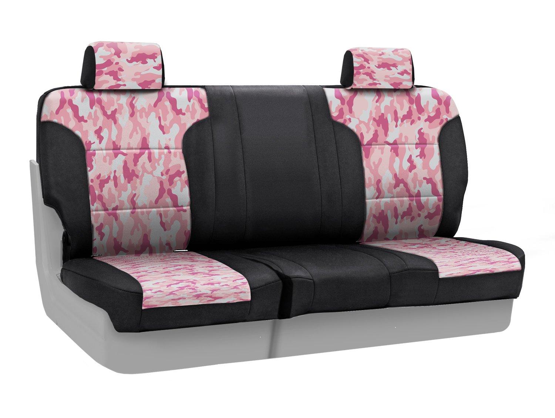 Coverkingフロント60 / 40ベンチカスタムフィットシートのカバーフォードモデルNeosupreme (従来のピンクのカモフラージュ柄ブラックサイド)B00U9R235O--