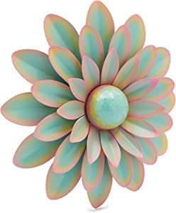 Metal Succulent Wall Décor for Home (Green, 10 x 10 x 1.7 Inches)
