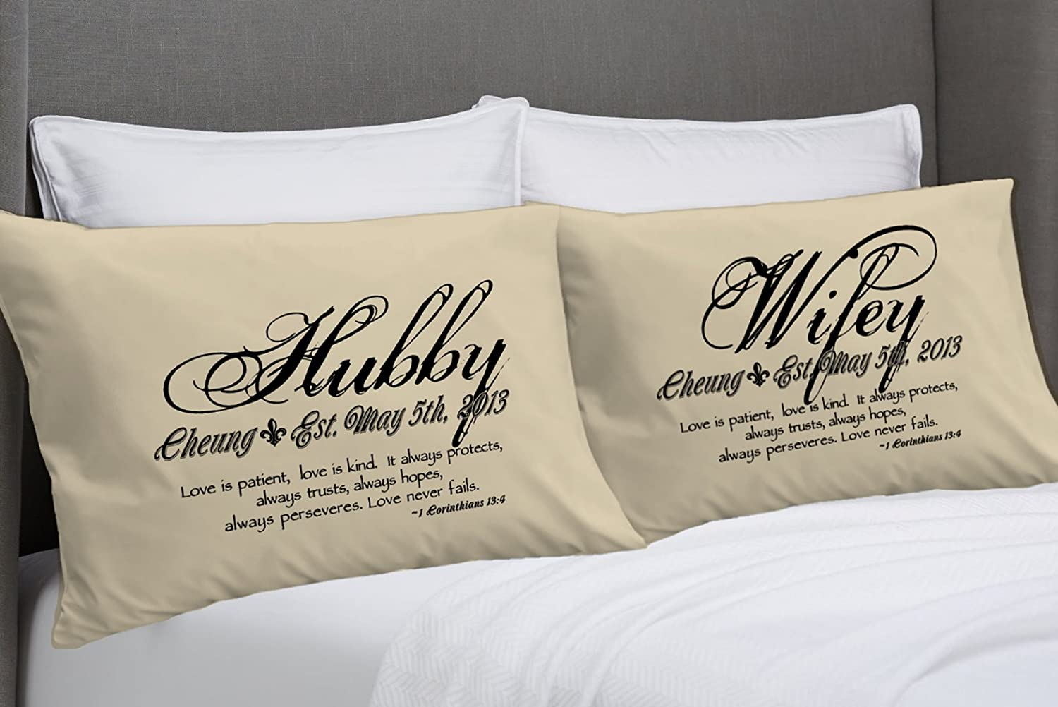 Amazon.com  1 Corinthians 13 Love Bible Verse Pillow Cases (Standard ... 153b80a07