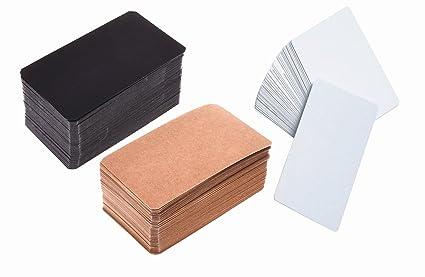 Amazon 300pcs black brown white blank kraft paper business 300pcs black brown white blank kraft paper business cards 354x 212 colourmoves
