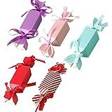 ゴシレ Gosear 50個盛り合わせ色かわいい結婚式の好意ギフトキャンディボックスリボンと結婚式の誕生日ベビーシャワーパーティー用品
