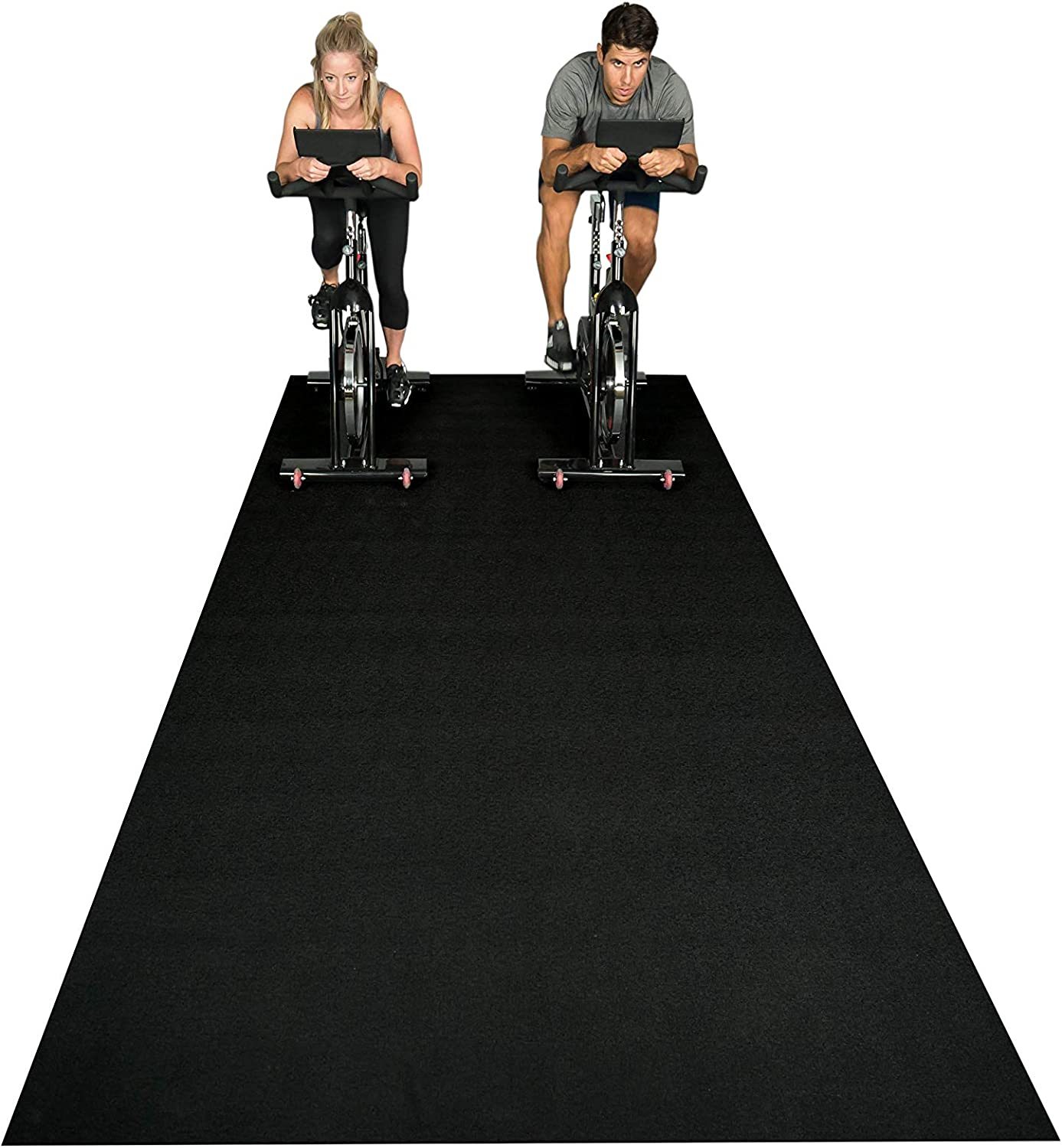 Square36 New Large Fitness Equipment Mat 10 Ft x 6 Ft. Made in Germany - Highest Grade Materials. Our Gym Flooring Mat Fits Several Fitness Machines ...
