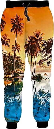 Pantalones deportivos para hombre y mujer, diseño 3D
