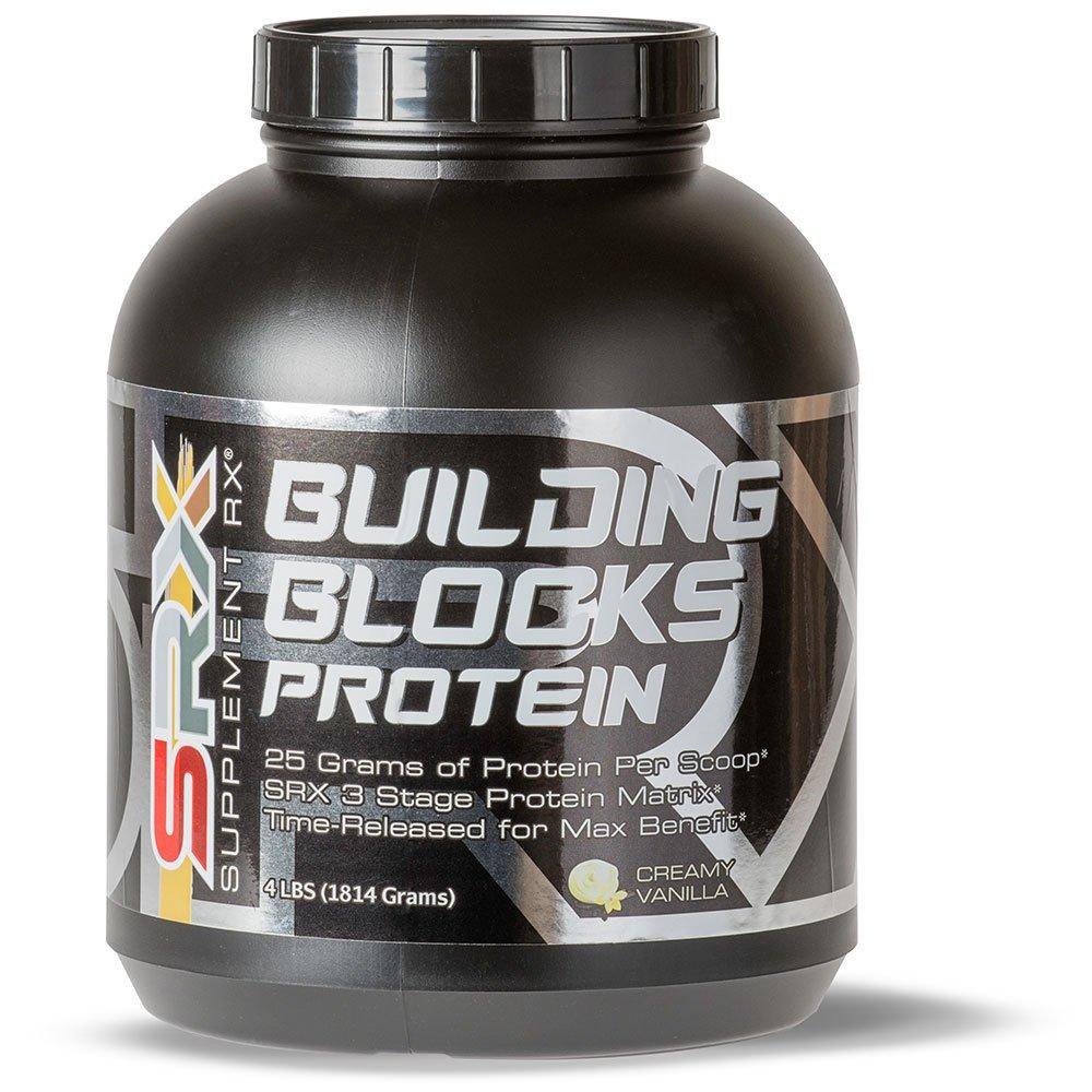 Supplement Rx (SRX) - Building Blocks Protein Creamy Vanilla 4lbs, Whey Protein Concentrate, Whey Protein Isolate, Egg White Protein Powder, Weight Loss, Gluten Free, BCAA, L-Arginine, Protein Shake by SupplementRx