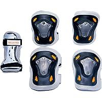 Rollerface Set de Protectores sin Casco, Color Gris, Grande
