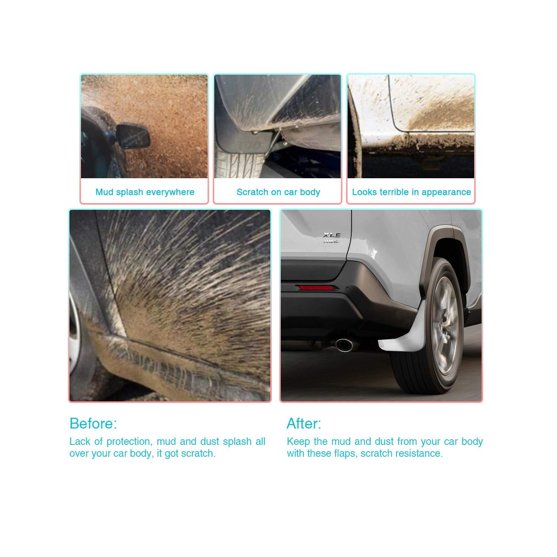 4 pezzi parafango CDEFG per RAV4 5 2019 accessorio per auto. paraspruzzi paraspruzzi