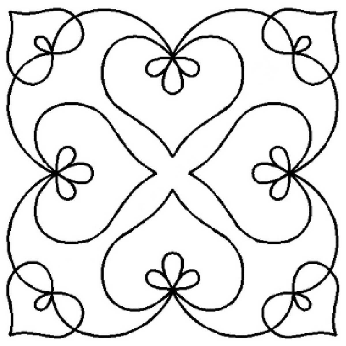 Bleeding Heart Medallion Quilting Stencil QCI 911