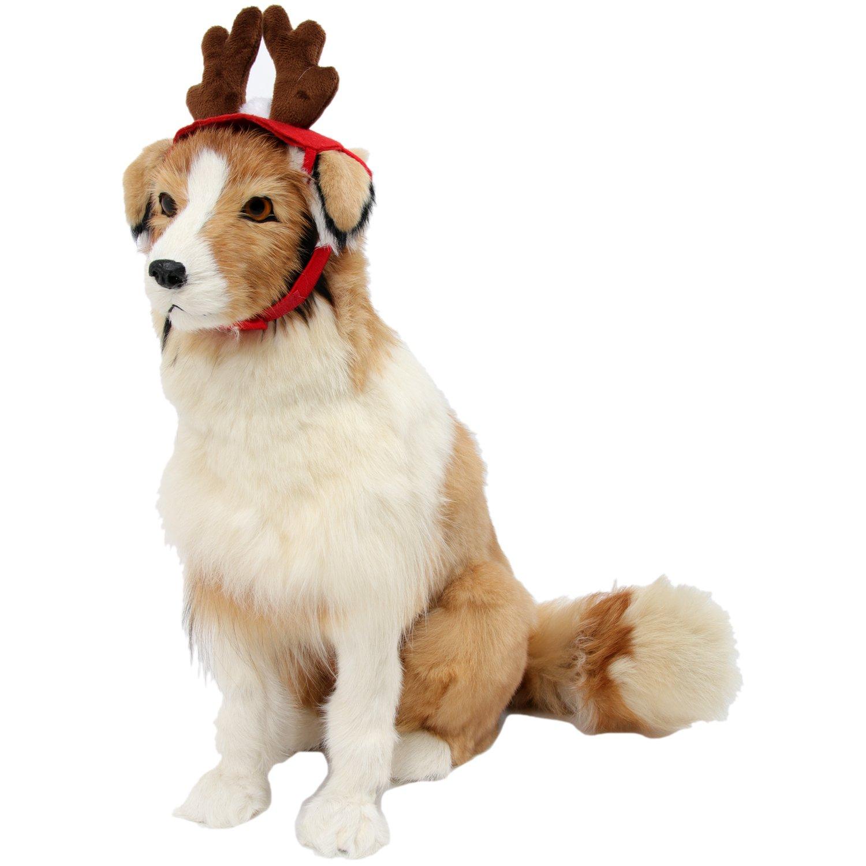 Amazon HBuir Pet Reindeer Santa Hat Christmas Costume Antlers