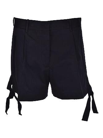 Moncler Women's 1843140549Mr778 Blue Cotton Shorts